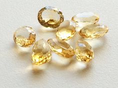 Golden Topaz  Topaz Loose Gemstones Faceted Topaz by gemsforjewels