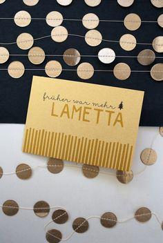 Früher war mehr Lametta.