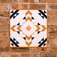 Ziggurat Mini Quilt Kit by Nightingale Quilts by Caroline Greco for Art Gallery | Modern quilting fabrics by Pink Castle Fabrics