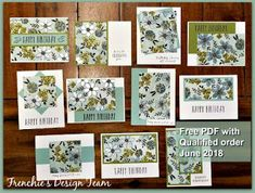 Catalog Kick off Live Tonight - Frenchie Customer Appreciation PDF - Stampin'Up! Catalog Kick off Live Tonight - Frenchie Customer Appreciation PDF One Sheet Wonder, Make Your Own Card, Customer Appreciation, Card Tutorials, Card Sketches, Free Coloring, Flower Cards, Stampin Up Cards, Card Templates