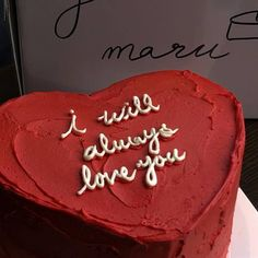 I will always love you cake Pretty Birthday Cakes, Pretty Cakes, Cute Food, Yummy Food, Bolo Cake, Think Food, Cute Desserts, Just Cakes, Let Them Eat Cake