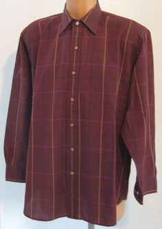 """Mouse over image to zoom                                                                                                                                                                                                   Have one to sell? Sell it yourself         """"LONDON FOG"""" NOR'EASTER PLAID BUTTON FRONT XL SHIRT"""