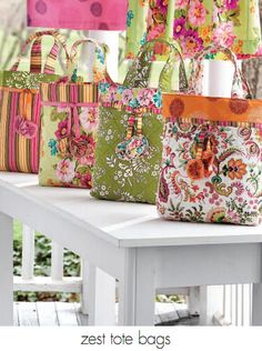 Zest Tote Bag Sewing Pattern - Free PDF