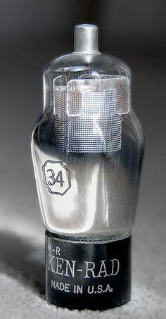 Vintage audio vacuum tube Ken-Rad 34