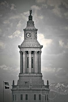 Tower of City & County Building, Denver Cityscape - Photography by Christine Till - A Unique Collection of Digital Photographs For Sale In Prints and Posters