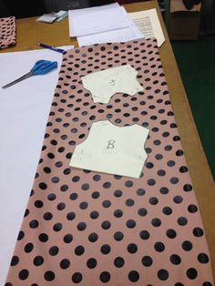 Bodice pieces placed into fabric