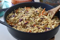 How To Prepare Fried Coleslaw Recipe Fabwoman Keto Coleslaw keto crack coleslaw recipe Coleslaw Sandwich, Coleslaw Salad, Vegan Coleslaw, Low Carb Recipes, Cooking Recipes, Healthy Recipes, Skinny Recipes, Healthy Food, Yummy Food