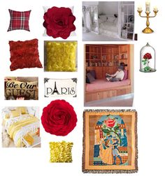 Belle from beauty and the beast bedroom theme! Already own the stained glass throw amd Lumiere figure