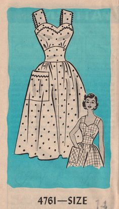 Mail Order 4761 1950s Misses Sundress vintage sewing Pattern by mbchills on Etsy