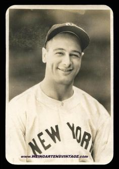 Type 1 original Lou Gehrig photo by Geo. Burke. Check out my collection @ www.weingartensvintage.com. I am always buying high end Babe Ruth and Lou Gehrig Type 1 photos. Call 2187792309