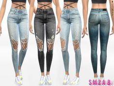 Lana CC Finds - 332 - Ripped Skinny Jeans With Tights