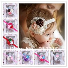 Free shipping  8PCS/LOT hair accessory headwear Baby Flower Headbands / Infant Cotton Headwear /girls headwear TH01 These could be use as Necklace for Puppies.