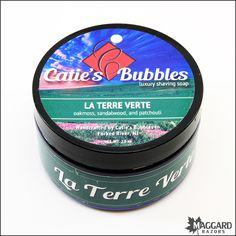 Catie's Bubbles La Terre Verte – Luxury Shaving Soap, 2oz | Maggard Razors - Straight Razor Restoration, Custom Scales and Wet Shaving Products