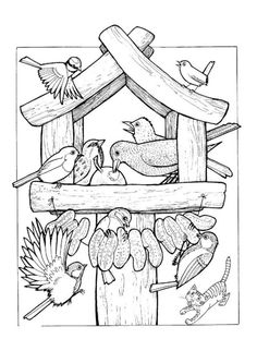 bird in winter coloring - Hľadať Googlom Bird Coloring Pages, Adult Coloring Pages, Coloring Sheets, Coloring Books, Bird Embroidery, Embroidery Patterns, Sparrow Art, Wood Burning Patterns, Bird Drawings