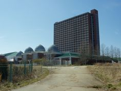 "SC, Fort Mill, Heritage USA -  an American Christian theme park, water park, and residential complex -  PTL Club (short for ""Praise The Lord"") founders televangelist Jim and Tammy Faye Bakker. This 500 room hotel was never completed and now sits abandoned."