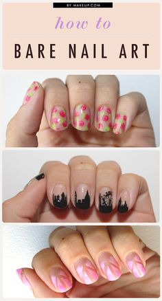 bare nail art. #nails #mani