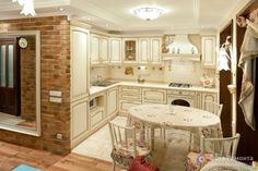 дизайн кухни в квартире в деревенском стиле фото