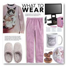 """What to Wear: Netflix Binge"" by meyli-meyli ❤ liked on Polyvore featuring Natori, J.Crew, Altra, Hello Kitty and WhatToWear"