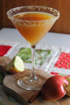 Carmel Vodka Drinks, Carmel Apple Martini, Apple Cider Cocktail, Cider Cocktails, Martini Recipes, Cocktail Recipes, Bar Recipes, Drink Recipes