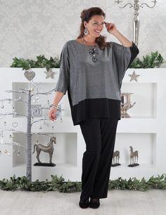 Telsa silver/black top and Rita trouser at Box 2