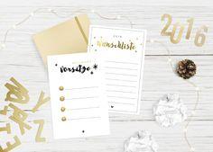 Evet ich will Hochzeitsblog - Freebie für silvester - Gute Vorsätze und Wünsche