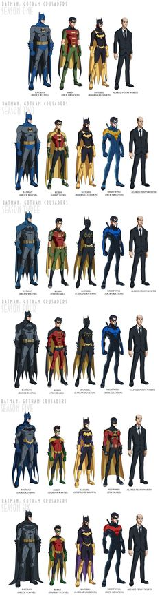 Gotham Crusaders--- Alfred literally doesn't change.