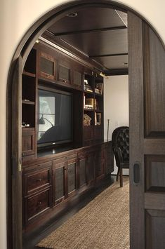 Arched entrance to man cave; Chris Barrett