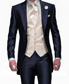 2015-Suits-New-Design-Navy-Blue-One-Button-Groom-Tuxedos-Groomsmen-Men-s-Wedding-Suits-Best                                                                                                                                                     More
