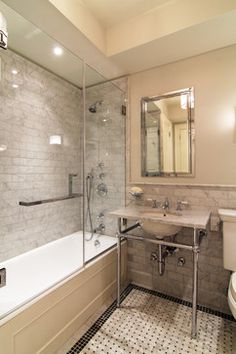Pre-War Pied a terre - traditional - Bathroom - New York - KIMOY Studios