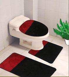 Midwest Bathroom Set 3pc 2-TONE Design Mat Countour Toile...
