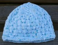 Knit with KT: Baby Bowties Preemie Hat, size 5 knitting needles