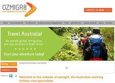 Website for Ozmigr8 - making the working holiday in Australia visa application process easy. www.ozmigr8.com.au