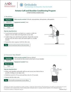 This shoulder rehabilitation program focuses on strengthening the muscles that support your shoulder to help keep your shoulder joint stable, relieve pain and prevent further injury. Shoulder Stretching Exercises, Shoulder Exercises Physical Therapy, Stretching Exercises For Seniors, Rotator Cuff Exercises, Rotator Cuff Tear, Bicep Tendonitis, Relaxation Exercises, Stretches, Bicep Muscle