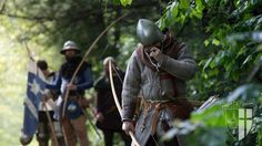 Medieval english archer 14th century.