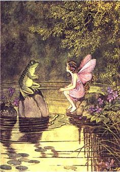 Ida Rentoul Outhwaite, Fairy and Frog by Gatochy, via Flickr