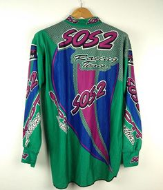 Vintage Sos 2 Scott Leathers Racing Team Motorcross Honda Vintage Sport, Racing Team, Honda, Trending Outfits, Long Sleeve, Unique, Sleeves, Mens Tops, T Shirt