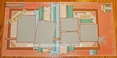 dana kessler  Scrapbook  | Two Page Scrapbook Layout Balloon Ride CTMH Cricut Family Spring #ctmh ...