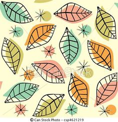 Retro leaf pattern clipart vector illustrations available to search from thousands of royalty free illustration and stock art designers. Pattern Pictures, Pattern Images, 1950s Wallpaper, Leaf Illustration, Doodle Patterns, Art Icon, Stock Art, Vector Art, Eps Vector