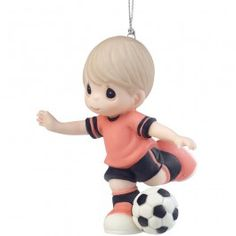 """I Get A Kick Out Of You"" Soccer Player Ornament"