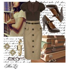 Vintage teacher= yes please more sexy librarian, librarian style, pencil skirt outfits, Boho Outfits, Vintage Outfits, Cute Outfits, Fashion Outfits, Sexy Librarian, Librarian Style, Retro Mode, Vintage Mode, Vintage Style