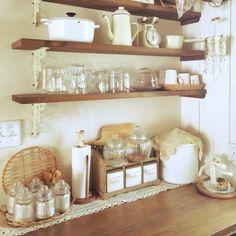 My Shelf/木と白がたまらなく好き/朝キッチンのインテリア実例 - 2015-05-09 19:07:17 | RoomClip(ルームクリップ)