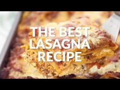 This is hands down the Best Lasagna Recipe ever! Layer hearty meat sauce with three cheeses and lasagna pasta and bake until hot and bubbly. Best Lasagna Recipe, Lasagne Recipes, Entree Recipes, Fall Recipes, Pasta Recipes, Italian Dishes, Italian Recipes, Slow Cooker Recipes, Cooking Recipes