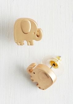 These little gold earrings. | 32 Things Every Elephant Lover Needs In Their Life