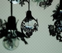 Inspiring picture black, flowers, home, lamp.