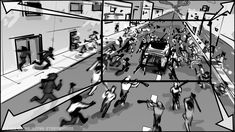 Static board for Shot 36B Episode 02 Part 2: HUMVEE is swamped by the mob from all directions. #COVID19 #coronavirus #pandemic #motioncomic #movingcomic #livestoryboarding #motioncomics #movingcomics #animatics #filmphotography #moviescene #moviescenes #makingmovie #makingfilm #moviemaking #storyboard #artist #storyboarding #storyboards #drawing #drawings #films #filmdirector #director #filmcrew #filmmaking #filmmaker #preproduction #filmproduction