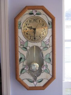 Stained glass pendulum clock