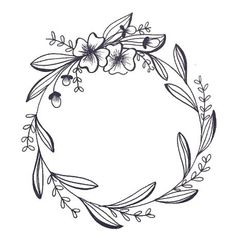 Happy Easter egg lettering on seamless background. Page Borders Design, Border Design, Hand Embroidery Patterns, Embroidery Designs, Kranz Tattoo, Wreath Tattoo, Wreath Drawing, Floral Drawing, Flower Tattoo Designs