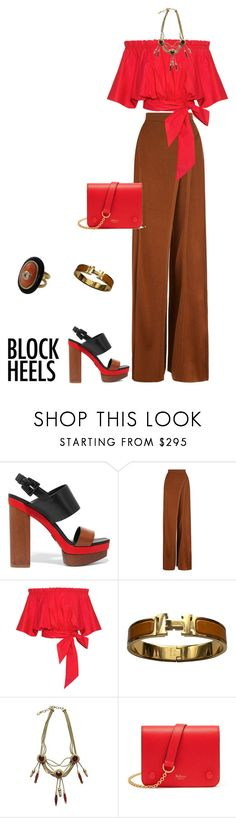 """outfit 6188"" by natalyag ❤ liked on Polyvore featuring Michael Kors, Balmain, Saloni, Hermès, Christian Dior and Mulberry"
