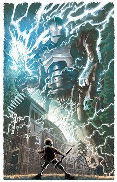 BROTHERTEDD.COM - johnny-dynamo: The Iron Giant by Brian Level Adashino Benio, The Iron Giant, Arte Robot, Arte Cyberpunk, Geek Art, Film Serie, Cultura Pop, Cool Posters, Disney Art