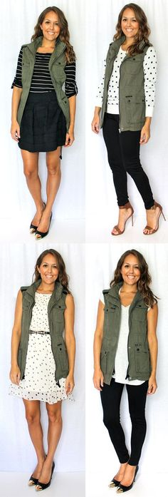 13 Must have for fall: Army Vest from J #vestswomens